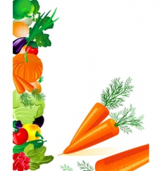 vegetables carrots vector image