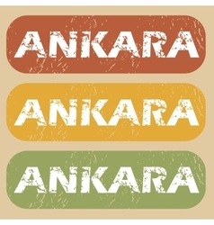 Vintage Ankara stamp set vector