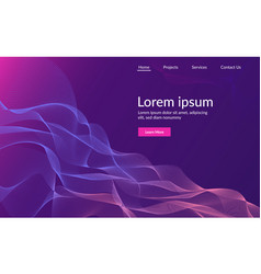 web page design template abstract background vector image