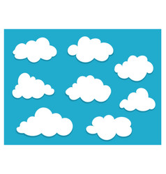 white clouds with copy space for text template vector image