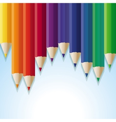 abstract background with rainbow pencils vector image