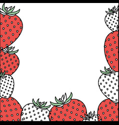 Background with color sections of strawberry vector