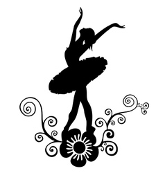 ballet abstract design vector image vector image