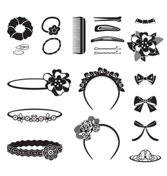 Hair accessory monochrome vector
