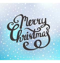 Merry Christmas greeting card on blue background vector image
