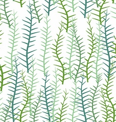 Seaweed on a white background seamless pattern of vector