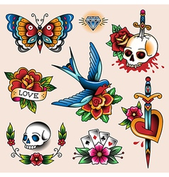 tattoo collection vector image