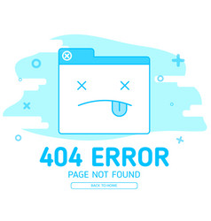 404 error with icon tab wedsite error vector image vector image