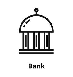 bank thin line icon vector image