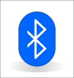 bluetooth icon vector image