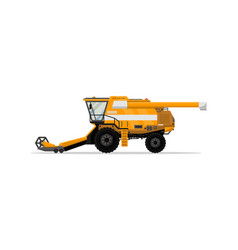 heavy combine harvester isolated icon vector image