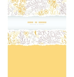 Magical floral vertical torn frame seamless vector image vector image