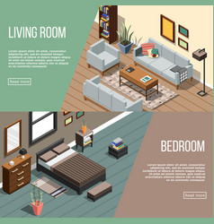 modern room banners collection vector image vector image