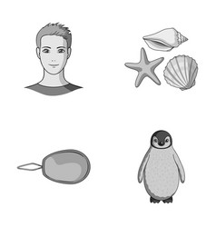 profession sewing and other monochrome icon in vector image vector image