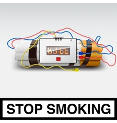 Stop smoking - cigarette bomb vector image
