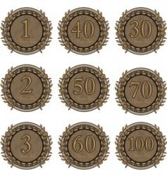 winner medals vector image vector image