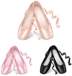 Ballet shoes vector image