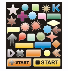 bright web elements vector image vector image