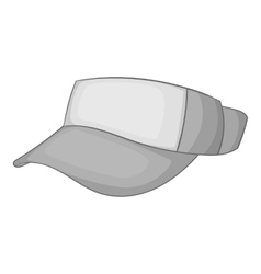 Cap without top icon gray monochrome style vector image vector image