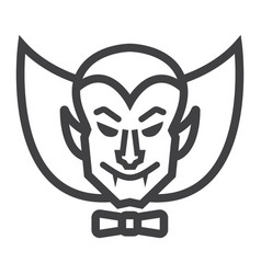 dracula vampire line icon halloween and scary vector image