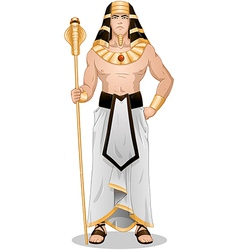 Egyptian Pharaoh Standing For Passover vector image vector image
