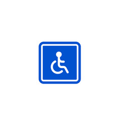 only disabled person parking roadsign isolated vector image vector image