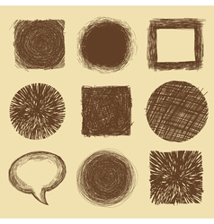 set with doodle backgrounds and frames vector image vector image