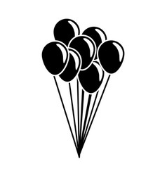 bunch of balloons flying decorative celebration vector image