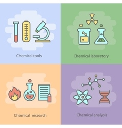 Chemical laboratory concept with instrumentation vector image