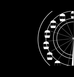 Ferris wheel on a black background vector