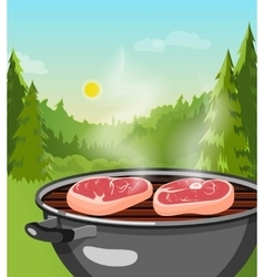 Outdoor Barbecue Concept vector image