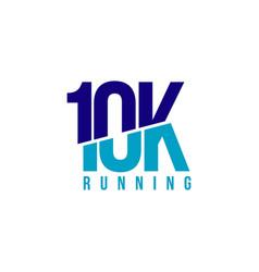 10k running template design vector