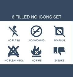 6 no icons vector