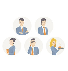 a portrait of a business team of young bu vector image
