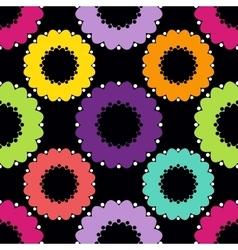 Abstract Circle Pattern Dark vector image