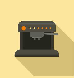Aeropress coffee machine icon flat style vector