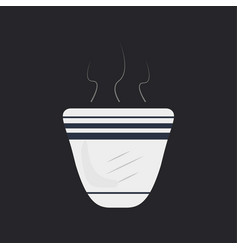 Arabic coffee cup with designs vector