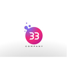 bb letter dots logo design with creative trendy vector image