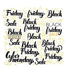 Black Friday Lettering Design vector image