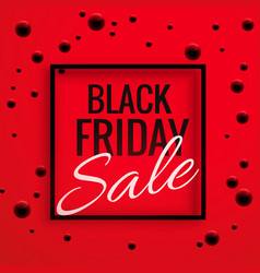 black friday sale banner poster with red vector image