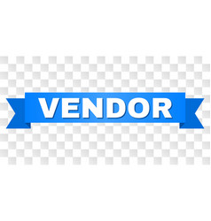 Blue tape with vendor caption vector