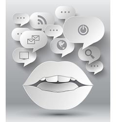 bubble speech and lip vector image