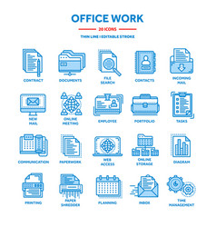business and office work documents paperwork vector image