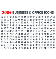 Business office finance icons set vector