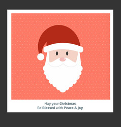 christmas card with santa clause and pattern vector image