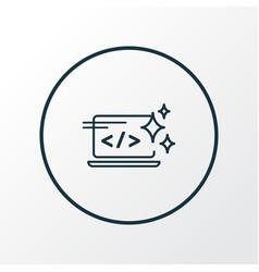Clean code icon line symbol premium quality vector
