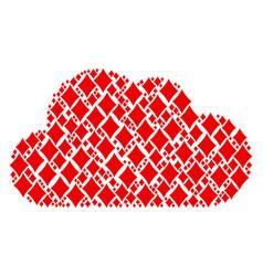 cloud mosaic of diamonds suit icons vector image