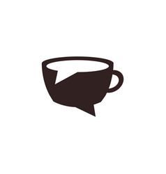 Coffee chat logo template vector