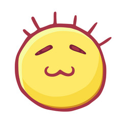 Colored emoticons icon smiley with closed eyes vector