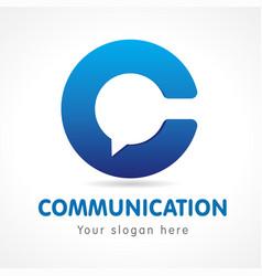 communication logo vector image